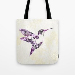 Purple Hummingbird Art Tote Bag