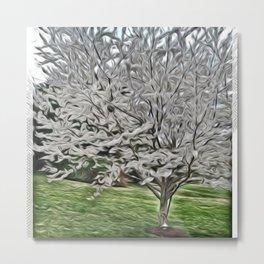 Sterling Silver Tree Metal Print