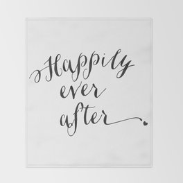 {Happily ever after} Throw Blanket
