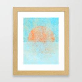 Informal sun Framed Art Print