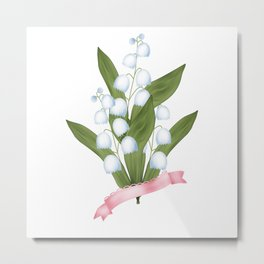 Spring . Lilies of the valley . Metal Print