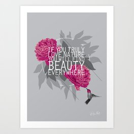 Finding Beauty Art Print