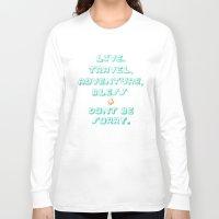 kerouac Long Sleeve T-shirts featuring Kerouac by Ariel Wilson