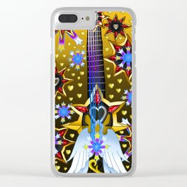Fusion Keyblade Guitar #124 - Oathkeeper & Omega Weapon Clear iPhone Case