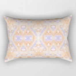 Ice Storm Peach Rectangular Pillow