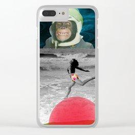 astronaut beach Clear iPhone Case