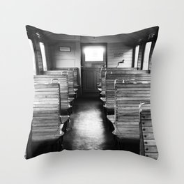 Old train compartment - Altes Zugabteil Throw Pillow