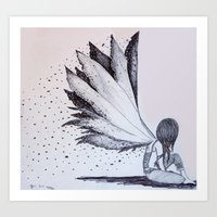 Burnt Wings Art Print