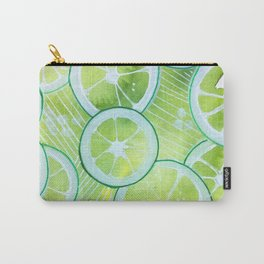 Lime Rings Carry-All Pouch