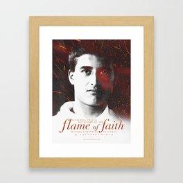 """Frassati """"Flame of Faith"""" Framed Art Print"""