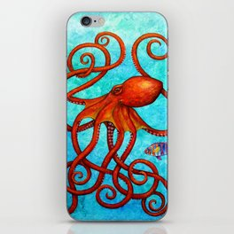 Distracted - Octopus and fish iPhone Skin