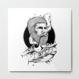 THE MAN AND THE SEA Metal Print