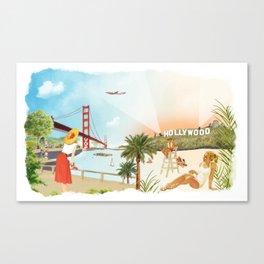 San Francisco + Los Angeles Canvas Print
