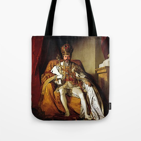 Nick Offerman Is KING!  |  Ron Swanson  |  Parks and Recreation Tote Bag