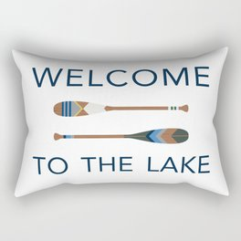 Welcome to the Lake Rectangular Pillow