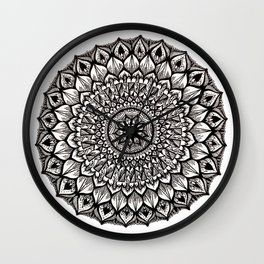 Sand Dollar-Black Wall Clock