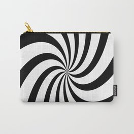 Spiral (Black & White Pattern) Carry-All Pouch