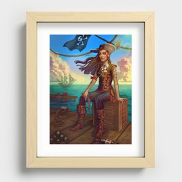 Pirate Commission Recessed Framed Print