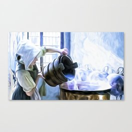 Chores of a chambermaid Canvas Print