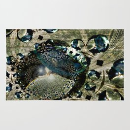 looking-glass planet Rug