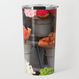 Flowers in buckets Travel Mug