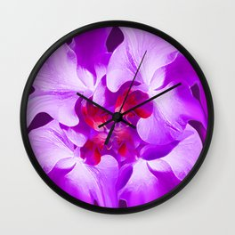 Abstract Orchid In Lavender Wall Clock