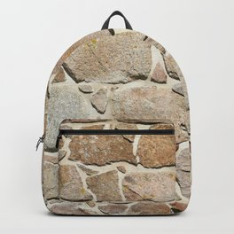 old quarry stone wall Backpack