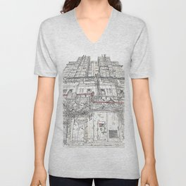 Hong Kong back street 2015 Unisex V-Neck