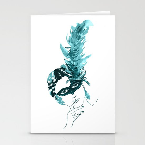 Feather Lady Stationery Cards