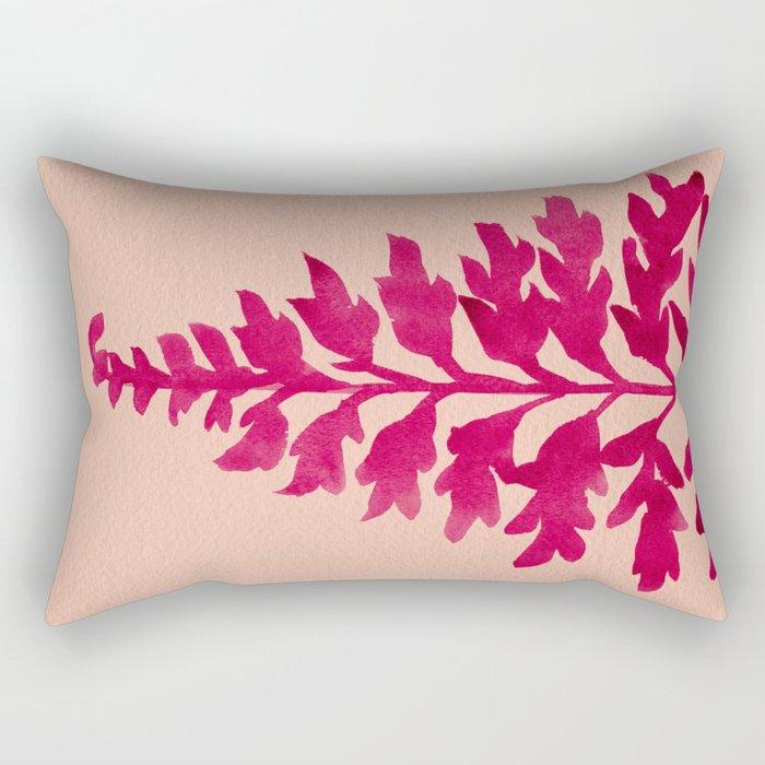 Pink Fern Rectangular Pillow