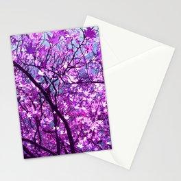 purple tree XXXIII Stationery Cards