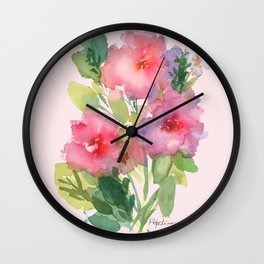 Windsor Red Roses Wall Clock