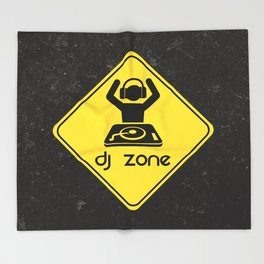 DJ Zone Rave Quote Throw Blanket