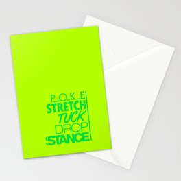 POKE STRETCH TUCK DROP STANCE v5 HQvector Stationery Cards
