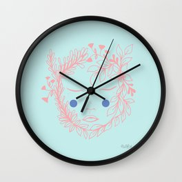 Floral face Wall Clock