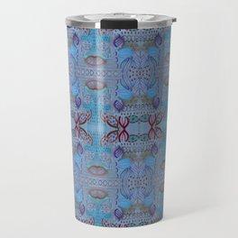 Blue Russian Repeat Travel Mug