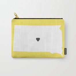 South Dakota Love in Lemon Carry-All Pouch