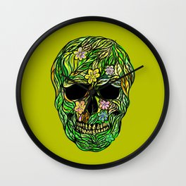 Skull Nature Wall Clock