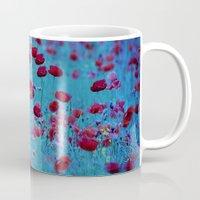 poppy Mugs featuring Poppy by Anne Seltmann