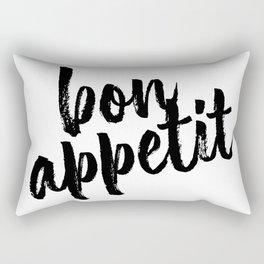 Bon Appetit Bold Script Rectangular Pillow