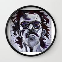 chuck Wall Clocks featuring Chuck Close by Susie (Zsuzsi) Czompo