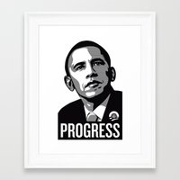 obama Framed Art Prints featuring Obama by loveme