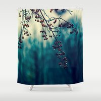 returns Shower Curtains featuring Diminishing Returns by Faded  Photos