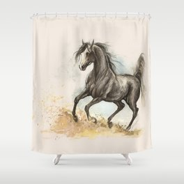 Golden dust under my hooves Shower Curtain