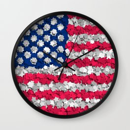 Stars and... Stars Wall Clock