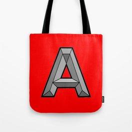 Silver A Tote Bag