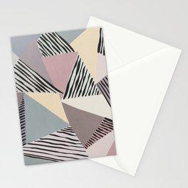 Modern irregular Stripes 03 Stationery Cards