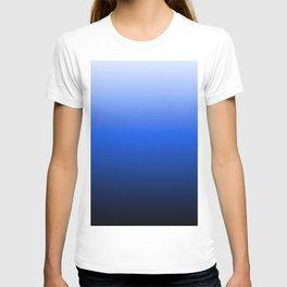 blue luminosity in modern design T-shirt