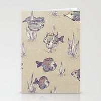 swimming Stationery Cards featuring swimming by Lidija Paradinović Nagulov - Celandine