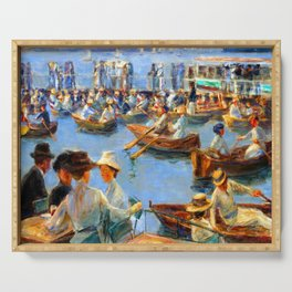 Max Liebermann On the Alster in Hamburg Serving Tray